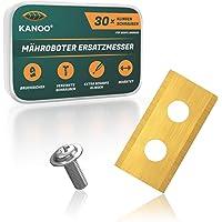 kanoo® Mes voor robotmaaier, 30 stuks, titanium reservemes voor Worx Landroid gazonrobot - Premium maairobot messen…