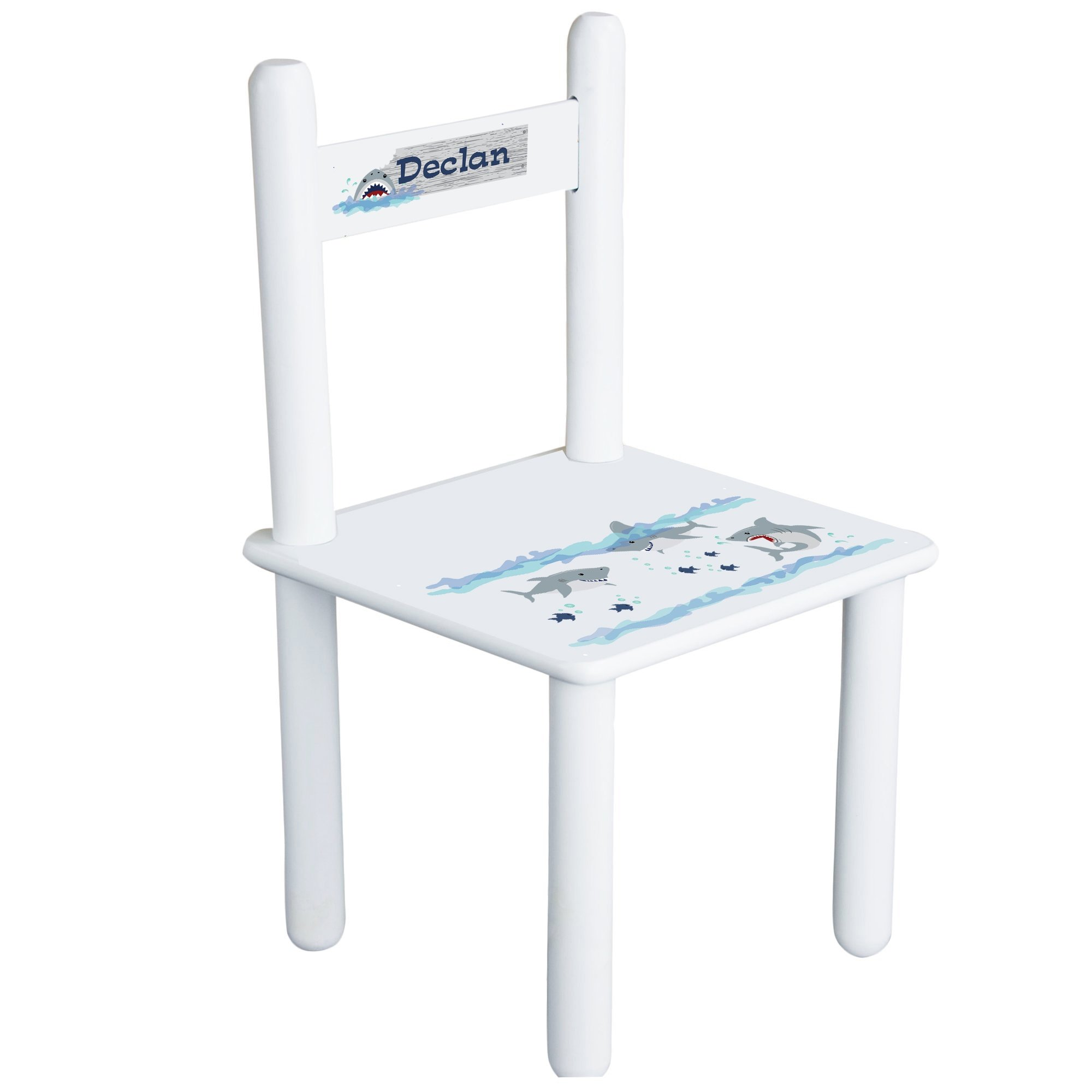 MyBambino Personalized Shark Tank Toddler And Childrens Chair by MyBambino (Image #1)