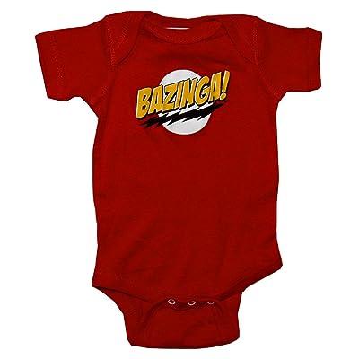 The Big Bang Theory Bazinga! Rouge grenouillère pyjama combinaison pour bébé