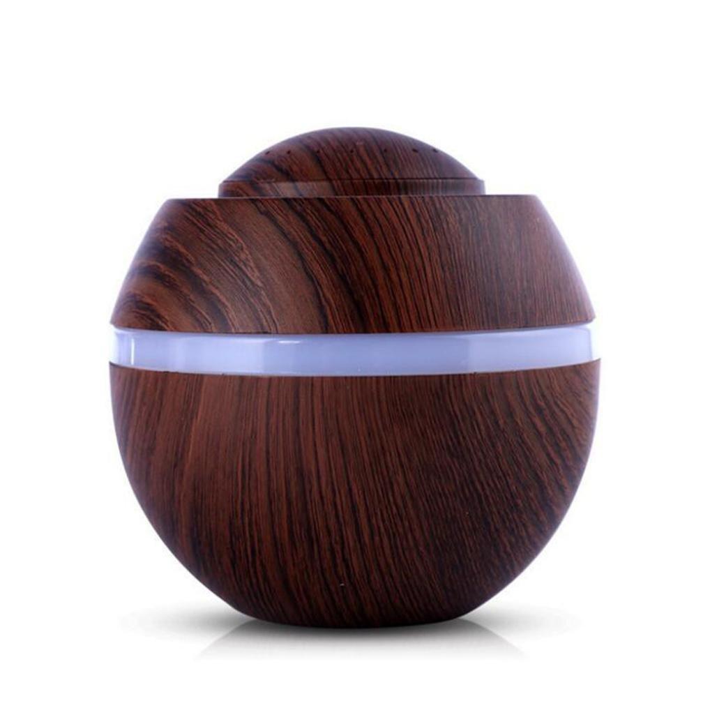 Liu Nian 500ML Cool USB Pumpkin Wood Grain Mist Humidifiers Ultrasonic Aroma Essential Oil Diffuser for Bedroom Office Car Large Rooms (Brown)