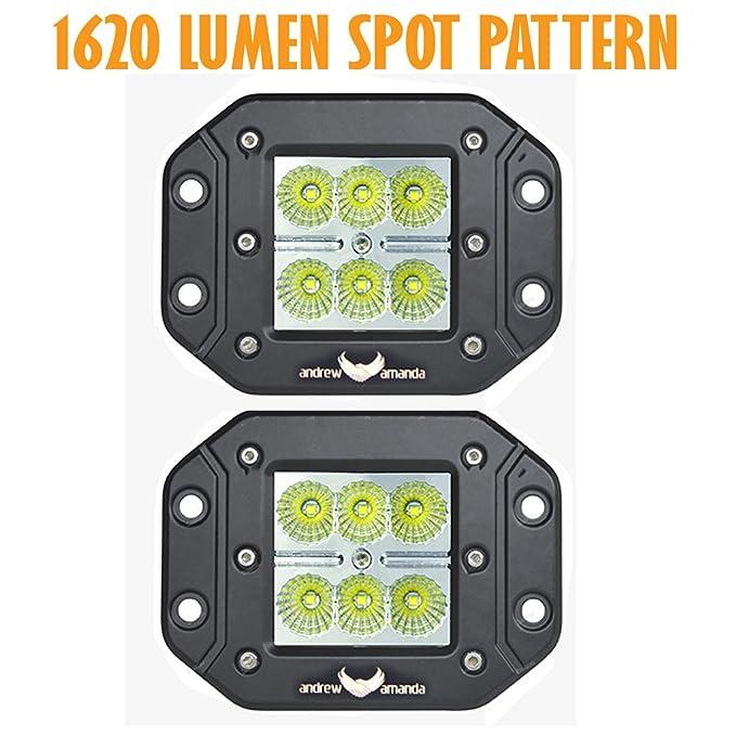 amazon com 2pcs 18w 1620 lumen led work driving light 8 deg spot rh amazon com Ford Wiring Harness Kits Painless Wiring Harness