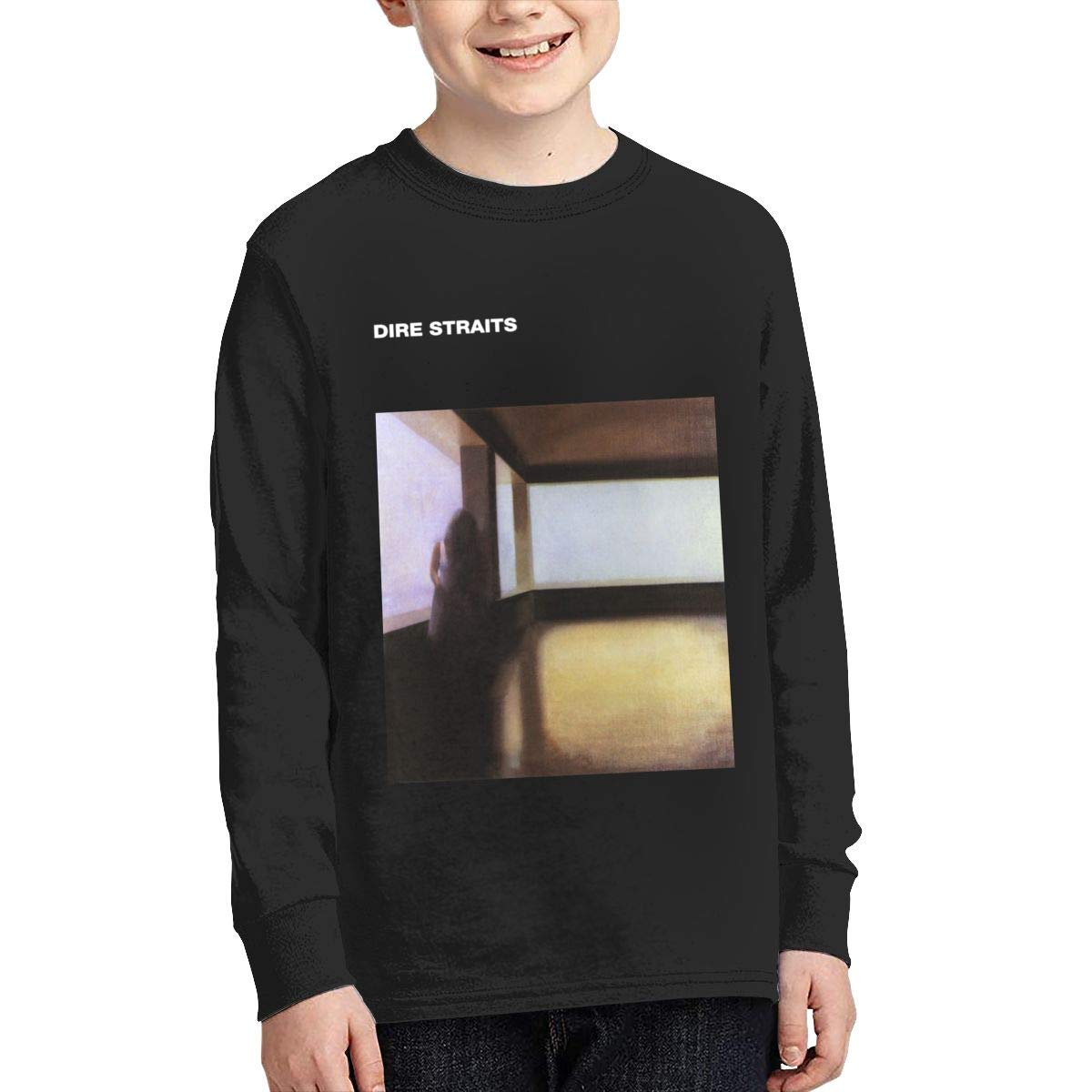 MichaelHazzard Dire Straits Youth Wearable Long Sleeve Crewneck Tee T-Shirt for Boys and Girls