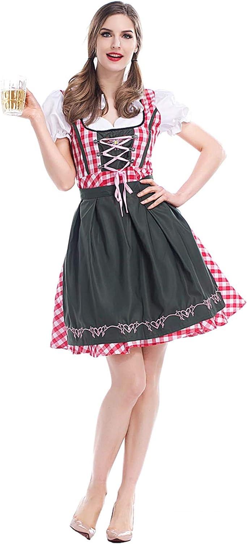 Ladies Women Oktoberfest Bavarian Beer Drindl Tavern Maid Cosplay Costume Dress/_