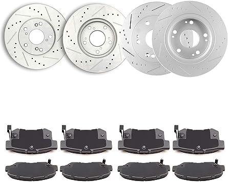 Rotors w//Ceramic Pads OE Brakes Front 2012 2013 2014 2015 Honda Civic
