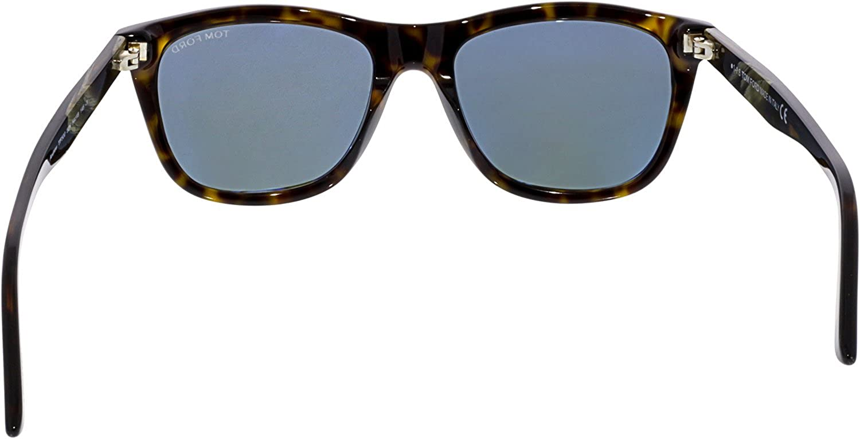 29fec989f11 Sunglasses Tom Ford ANDREW TF 500 FT 52N dark havana   green at Amazon Men s  Clothing store
