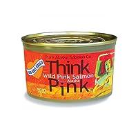 No Salt Added Thinkpink Wild Alaska Pink Salmon (12) 7.5 oz Cans