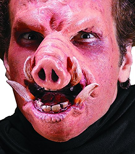 Reel FX Wild Boar Pig Orc Theater Make Up Costume Mask (Orc Latex Mask)