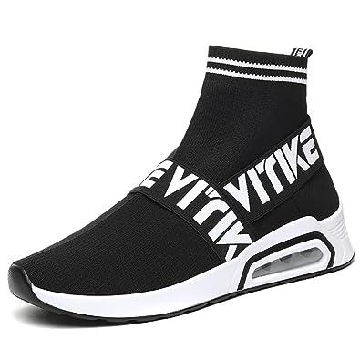 490ea259f3f932 VITIKE Damen Sportschuhe Unisex Atmungsaktives Turnschuhe mit Luftpolster  Freizeitschuhe Ultra-Light Laufschuhe Jungen Sneakers