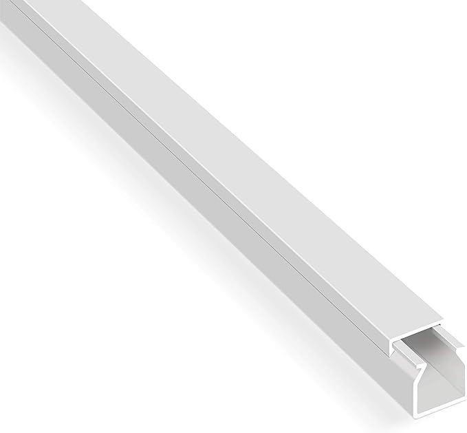 Canaletas para cables listas para montar (20 m, autoadhesivos, con cinta adhesiva de espuma, color blanco), Blanco: Amazon.es: Bricolaje y herramientas