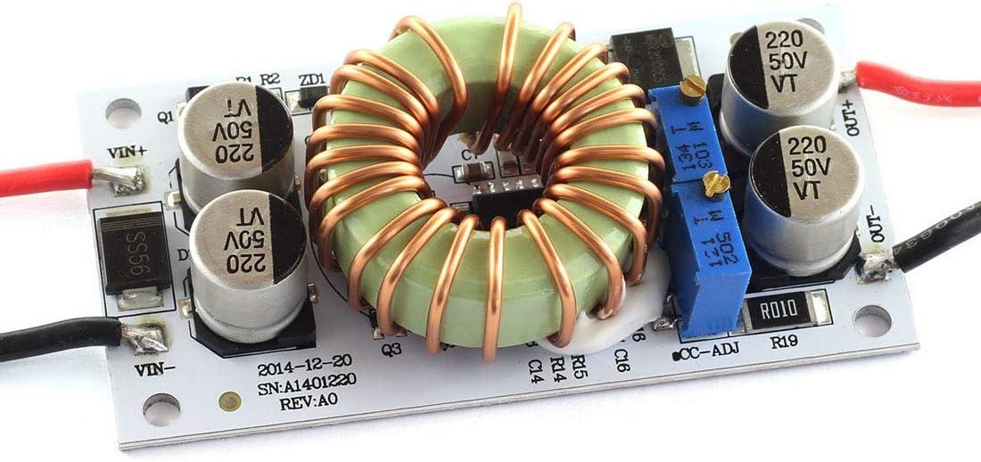 DZS Elec 250W DC Booster Constant Voltage Constant Current Power Converter Module DC-DC 10-40V to 10-50V 6A Adjustable Step-Up Power Supply Module CC CV Voltage Regulator Large Power Driver