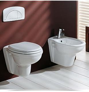 Wc con sedile e bidet sanitari sospesi - modello CLIC: Amazon.it ...