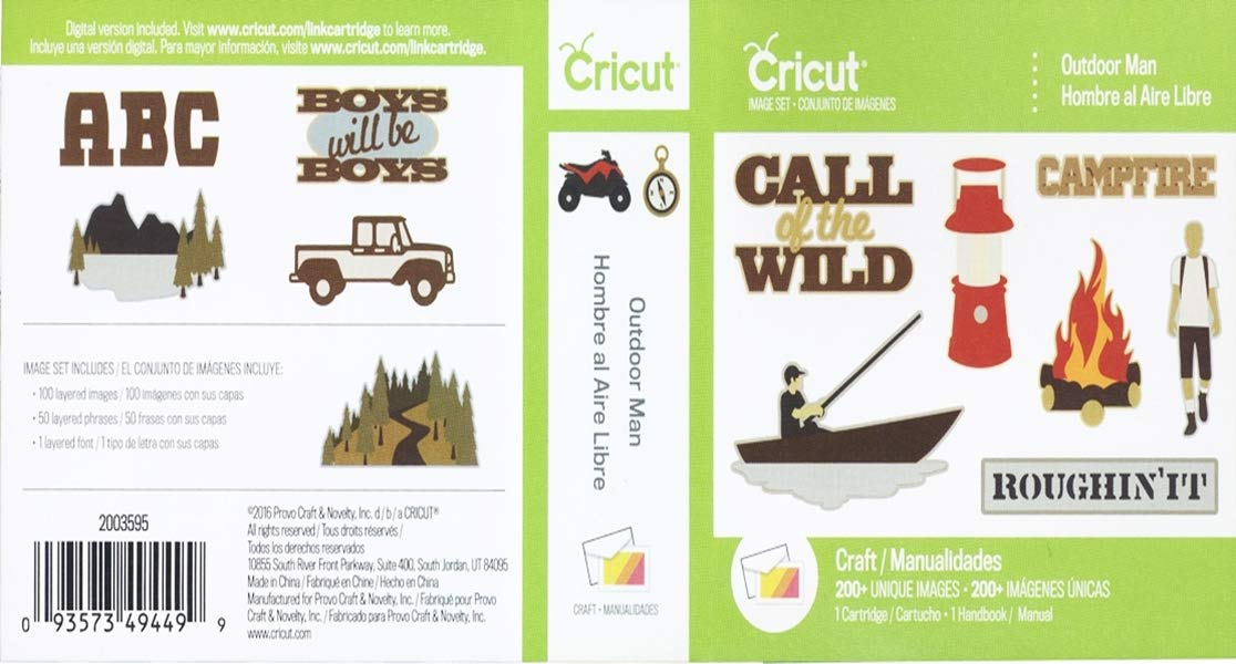 Cricut Outdoor Man Cartridge
