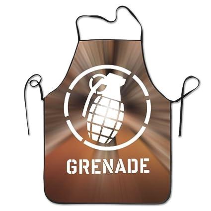 Funny Cool Vintage Granada Granada de mano delantal de cocina de gráfica