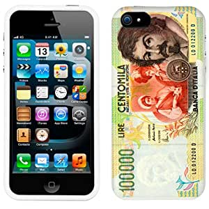 Apple iPhone 5s 100000 Centomila Lire Italy Banknote Phone Case Cover
