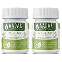 AADAR Herbals Re-LAX Medicine for Constipation Relief, Bowel Care and Gastric Wellness - 60 Capsules (Pack of 2)