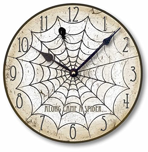 Item C1551 Vintage Style  Halloween Spider Clock - Halloween wall decor