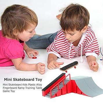 Dedo 1set Lugar monopatín Combinación Junta dedo Conjunto Mini rincón de Micro monopatín Rampa Fun Place monopatín Juego Set de juguete de regalo para ...