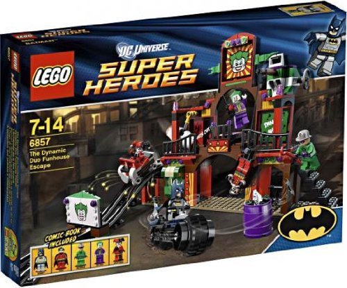 Super Heroes LEGO The Dynamic Duo Funhouse Escape Brick Box Building Toys