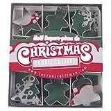Fox Run 3647 Mini Christmas Cookie Cutter Set, Stainless Steel, 9-Piece
