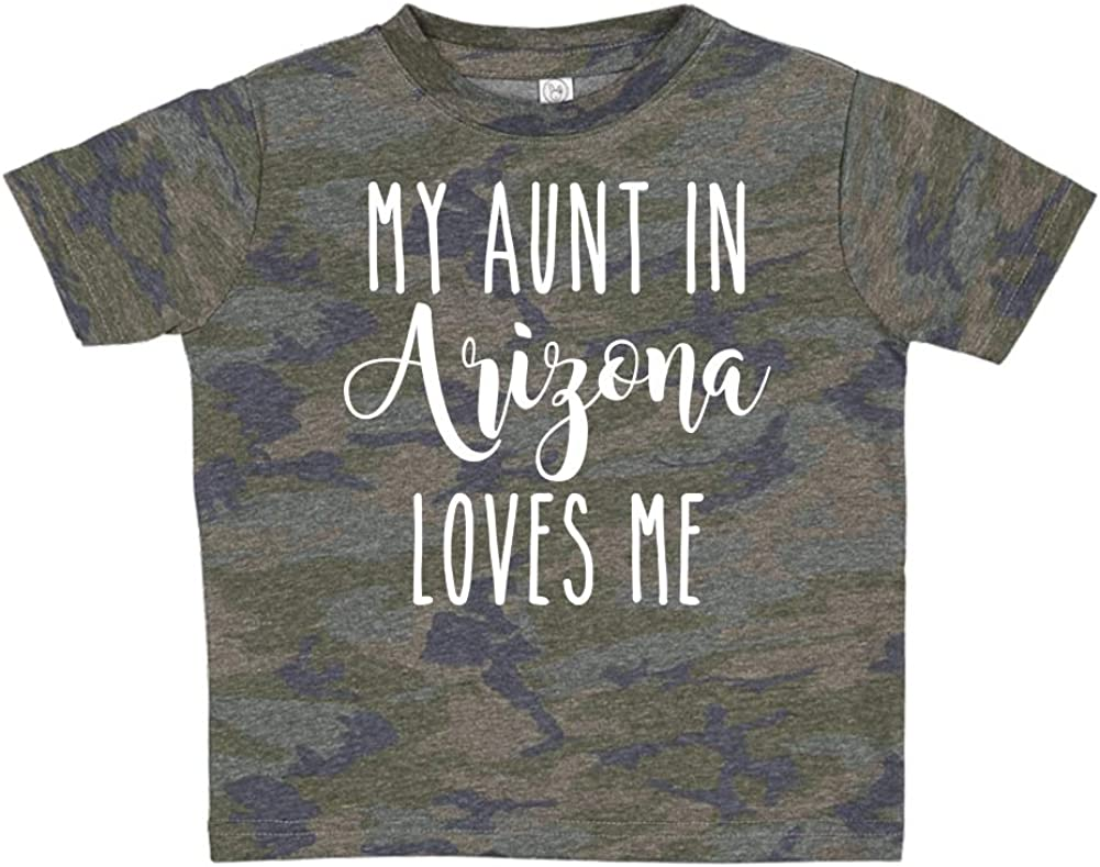 Toddler//Kids Short Sleeve T-Shirt My Aunt in Arizona Loves Me