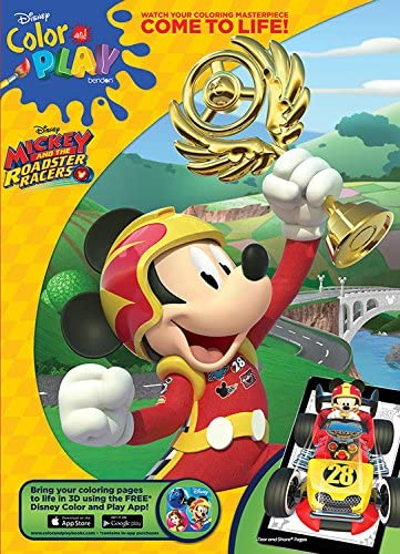 Amazon Com Bendon Mickey And The Roadster Racers Jumbo Coloring And Activity Book Toys Games