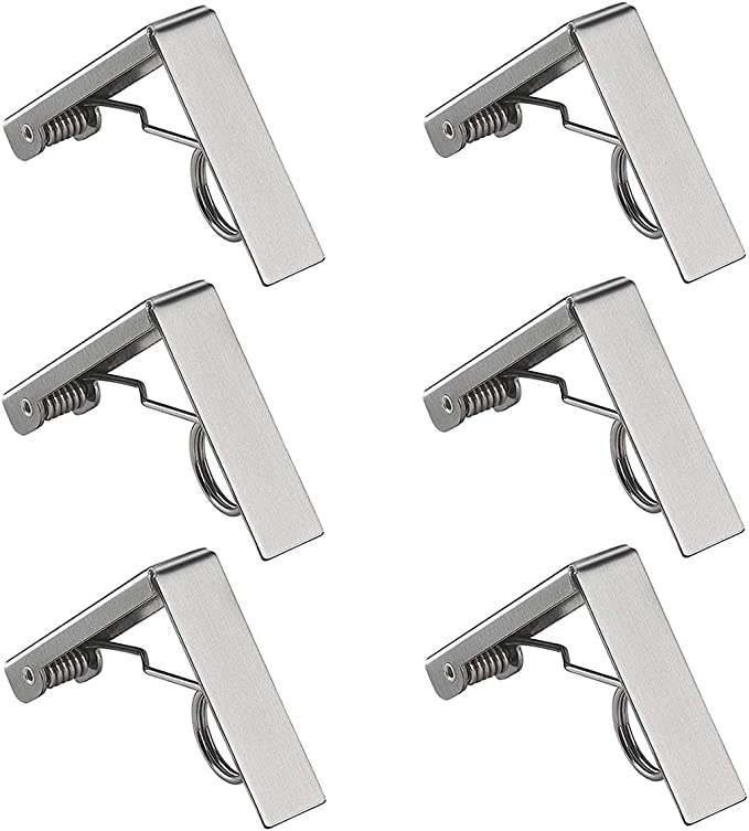 Centeraly Tablecloth Clips 4//6 Pcs Stainless Steel Table Clips for Wedding Picnic Desk Holder Outdoor Lunch BBQ