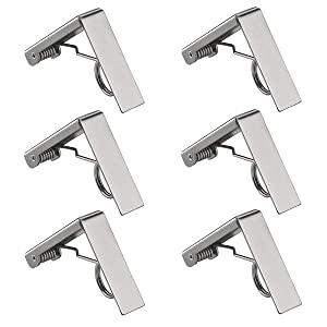 LepoHome 6 Pack Decorative Stainless Steel Picnic Tablecloth Clamps Clips Holders for Wedding Outdoor Picnic Tables Patio Party Dining BBQ