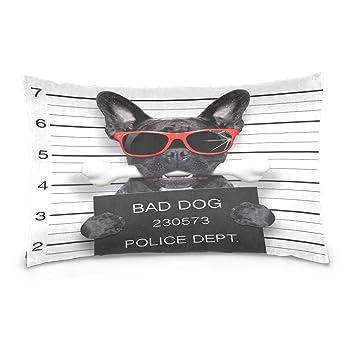Amazon.com: ALAZA Funny Cute Bulldog Francés morder los ...