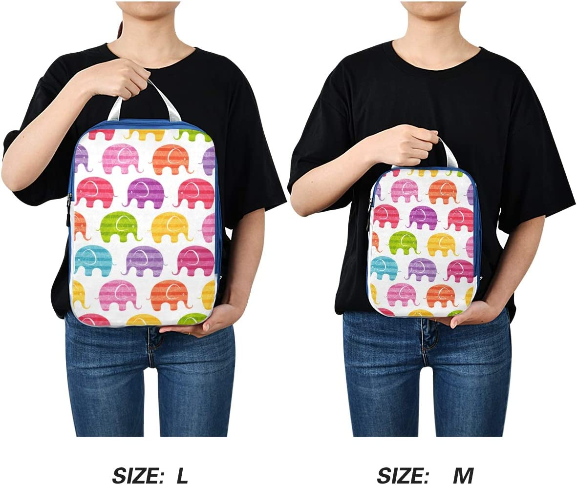Funny Elephants 3 Set Packing Cubes,2 Various Sizes Travel Luggage Packing Organizers n