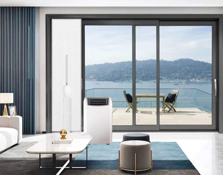 Kit de ventilación para puerta corredera de aire acondicionado portátil   Sello universal para puerta corredera de balcón para aire acondicionado portátil y secadora, se adapta a puertas de hasta 19 x