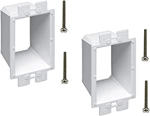 iMBAPrice BE1-2 (1-Gang) Electrical Power Outlet Box Extender - White, 2-Pack