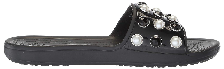 Crocs Womens Sloane Timeless Pearl Slide Sandal Crocs Women/'s Sloane Timeless Pearl Slide Sandal 205440-001