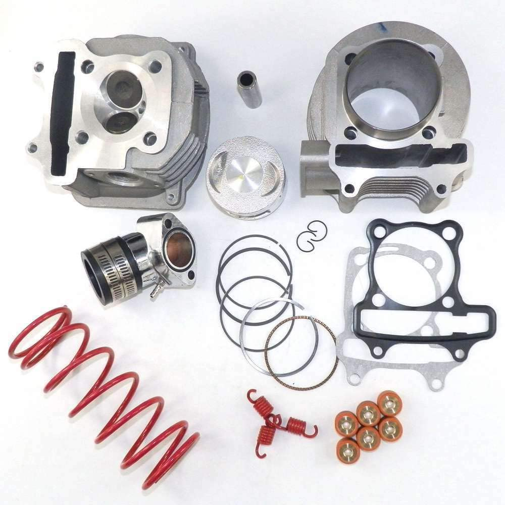 YunShuo Performance Big Bore Cylinder Kit /& Head 170cc 61mm GY6 125cc 150cc Scooter