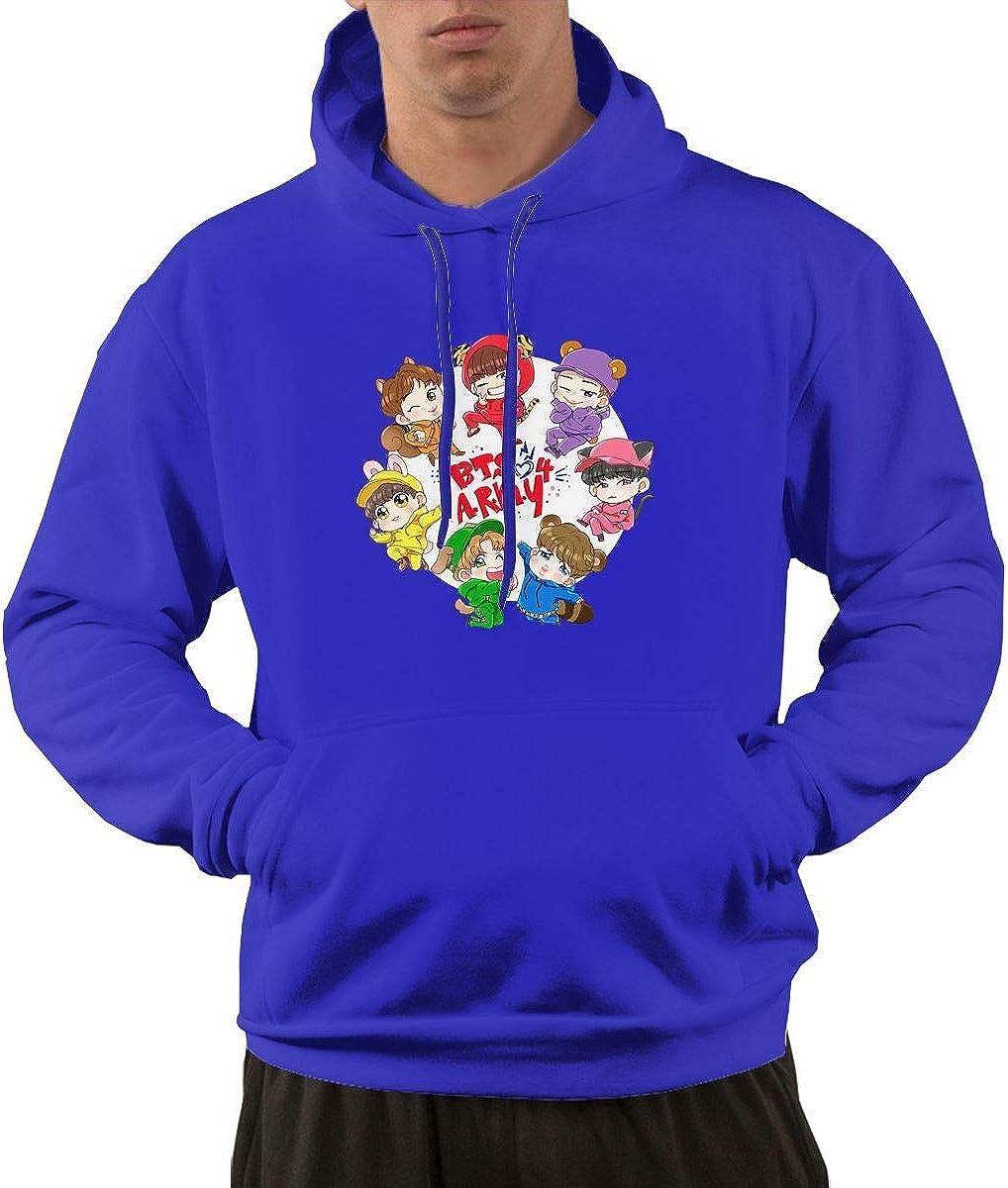 Jurenhq Classic BTS Army Hoodie Sweatshirt for Mans Black