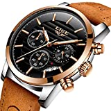 LIGE Mens watches fashion casual full leather sport quartz watch men luxury brand waterproof business gift wristwatch Reviews