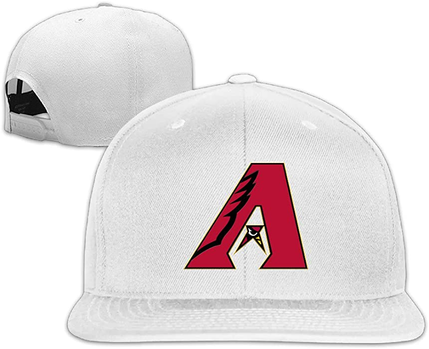 b795eb0eeeb66 Arizona AZ Cardbacks Flat Brim Baseball Cap White at Amazon Men s Clothing  store