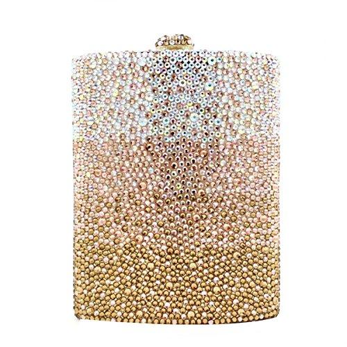 Coupe De Sac Noir Pleine Messenger Et Style Américain Sac Européen Soirée Et De Onecolor Trapézoïdal Blanc Cristal Diamant Sac De qZIEw6