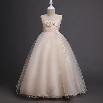 89238b41b GHTWJJ Vestidos De Noche De Niña Vestido De Fiesta De Princesa De Boda para  Niña Vestido
