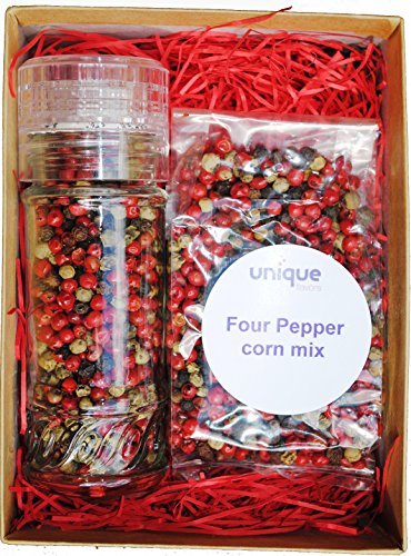 Four Peppercorn Mix Gift Set with Refill Bag
