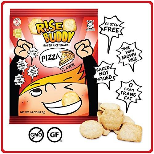 Cheap Rise Buddy PIZZA Rice Crisps > Avail Flavors: Sea Salt / BBQ / Pizza / Sour Cream & Onion (Pizza, 12 pack)