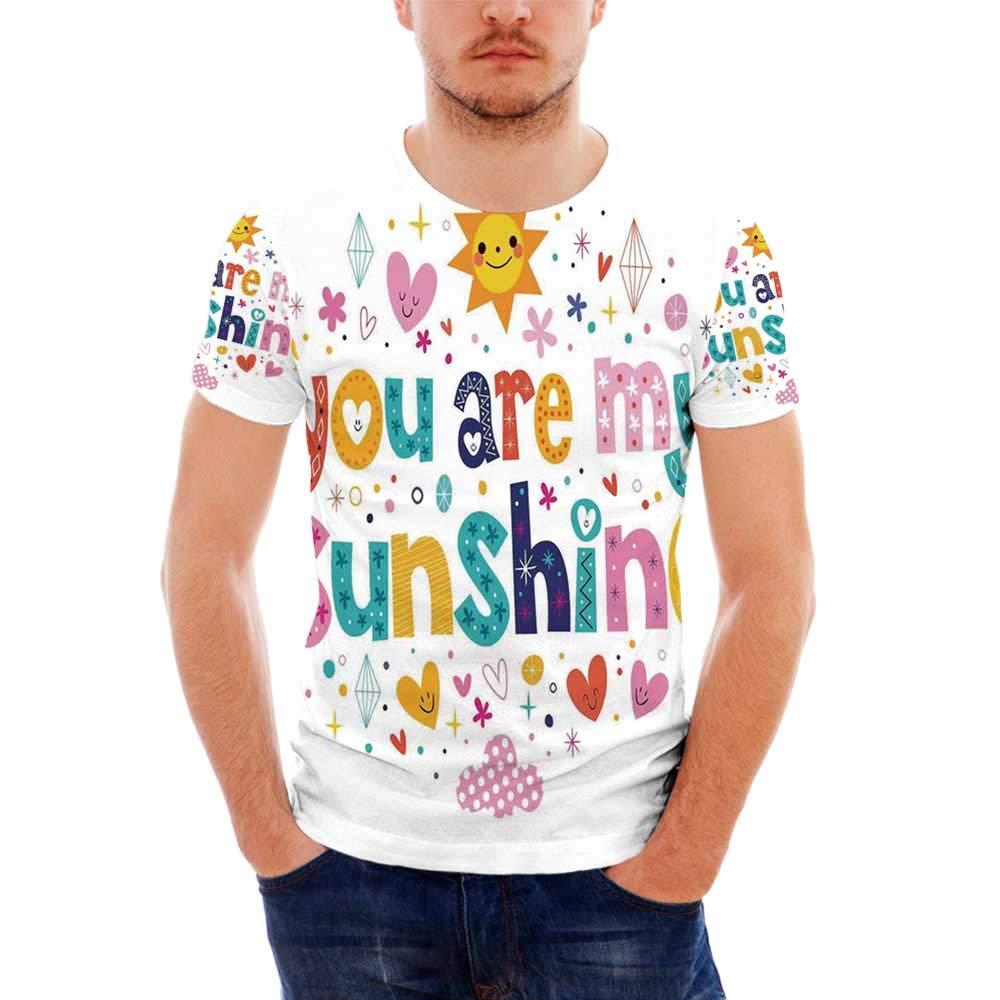 Leaves Fashionable T Shirt,for Men,S