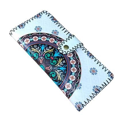 Hecho a mano cartera de cuero de Monedero para mujer ...