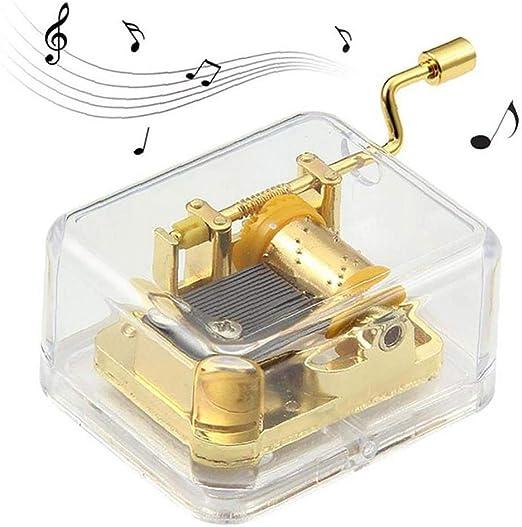 XKJFZ Mecanismo Caja Transparente Caja De Música De Viento De hasta Música Feliz Cumpleaños Manivela Musical Memorias De La Niñez Caja De Música De Harry Potter Caja De Música Mejores Ideas: Amazon.es: