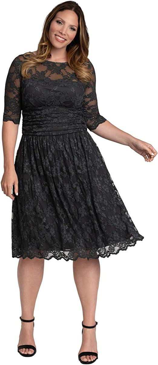 Women's Plus Size Luna Lace Cocktail Dress