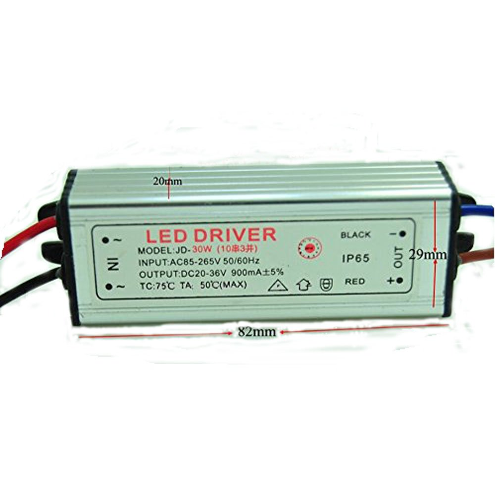 Led Driver Dc20 36v 30w 900ma Power Supply 3w Highpower Drive Circuit Ledandlightcircuit Floodlight 10 Series 3 Parallel Waterproof Lighting Equipment Dedicated