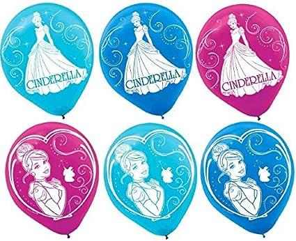 Party Accessory Cinderlla 119664 Printed Latex Balloons Disney Cinderella Collection