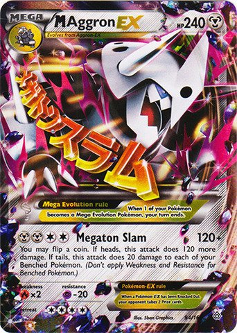 Pokemon - Mega-Aggron-EX (94/160) - XY Primal Clash - Holo from Pokemon