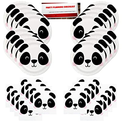 Panda Bear Jungle Forest Animal Party Supplies Bundle Pack for 16 Guests (Plus Party Planning Checklist by Mikes Super Store): Health & Personal Care