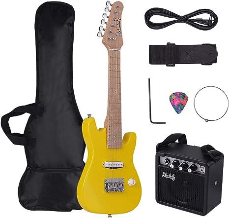 Muslady Kit de Guitarra Eléctrica ST para Niños 28 pulgadas Mástil ...