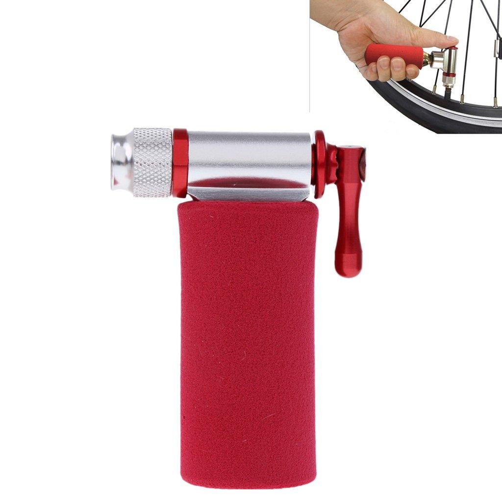 Perfeclan Alloy CO2 Bicicleta Bicicleta Cartucho Tire Bomba Presta Schrader Tire Inflator